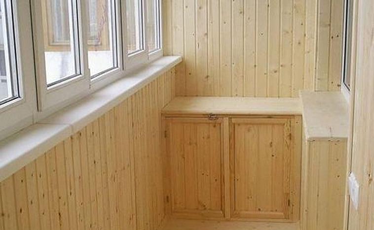 Отделка евровагонкой балконов в Перми