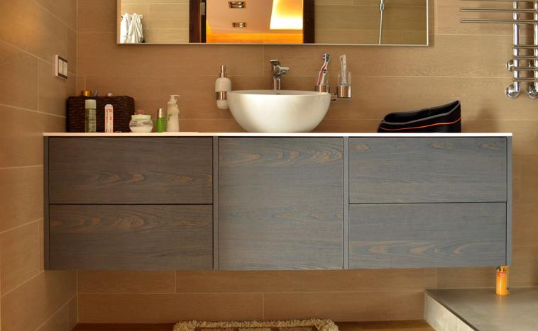 Корпусная мебель для ванной на заказ в Перми